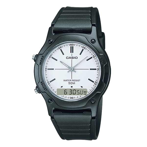 Casio AW-49H-7EVDF Dual Display Unisex Resin