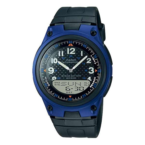 Casio AW-80-2BVDF Dual Display Mens Resin