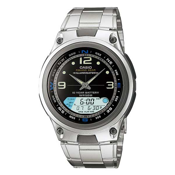 Casio AW-82D-1AVDF Dual Display Mens Silver
