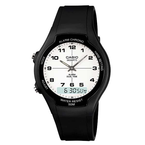 Casio AW-90H-7BVDF Dual Display Unisex Resin