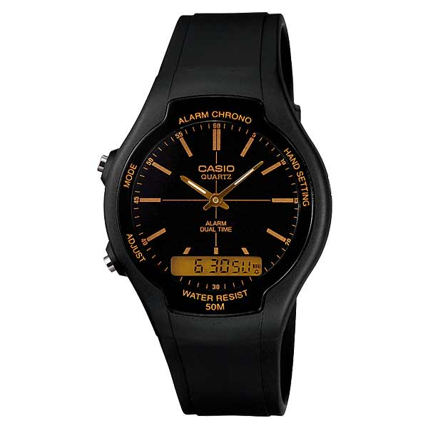Casio AW-90H-9EVDF Dual Display Unisex Resin