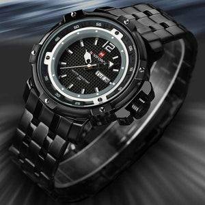 Naviforce 9073 Mens Stainless Steel Watch