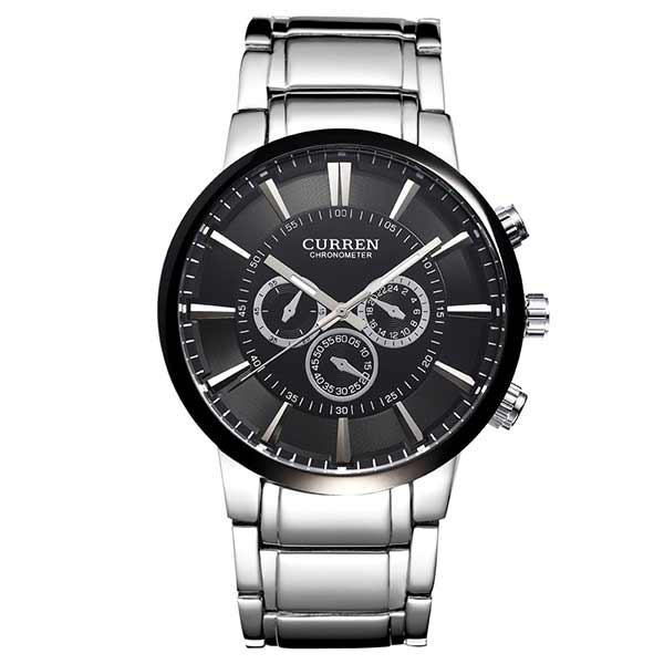 Curren 8001A Mens Stainless Steel Watch
