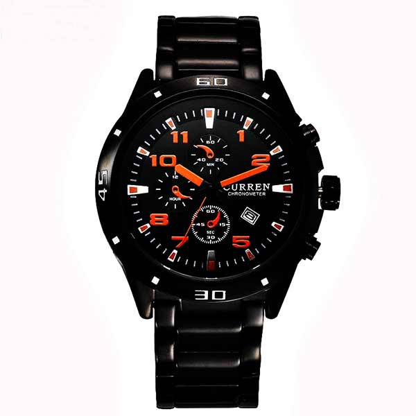 Curren 8021 Dated Mens Stainless Steel Watch