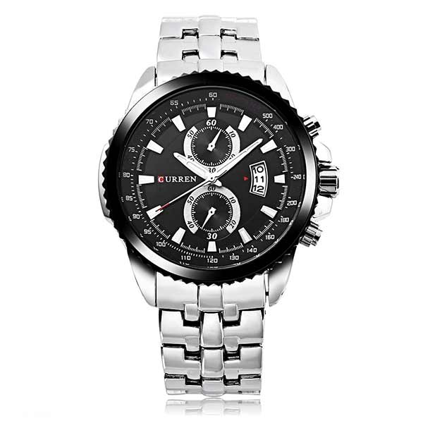 Curren 8082 Dated Mens Stainless Steel Watch