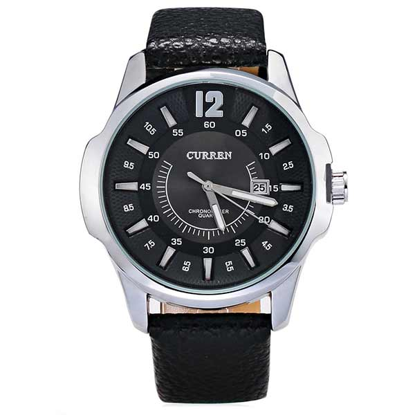 Curren 8123 Dated Mens Leather Watch