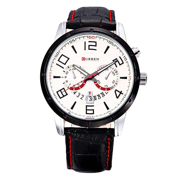 Curren 8140 Dated Mens Leather Watch