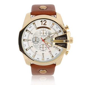 Curren 8176 Dated Mens Leather Watch