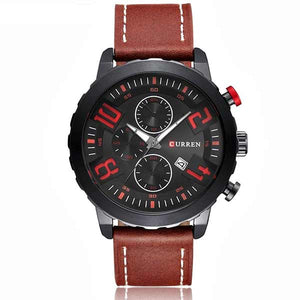Curren 8193 Dated Mens Leather Watch