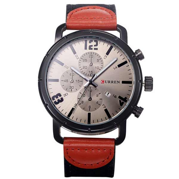 Curren 8194 Dated Mens Leather Watch
