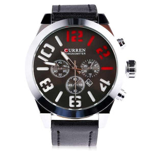 Curren 8198 Dated Mens Leather Watch