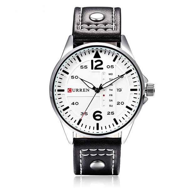 Curren 8224 Dated Mens Leather Watch