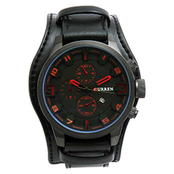 Curren 8225 Dated Mens Leather Watch