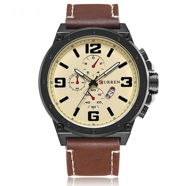 Curren 8230 Dated Mens Leather Watch