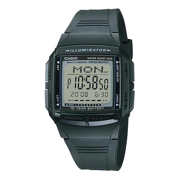 Casio DB-36-1AVDF Databank Unisex Resin