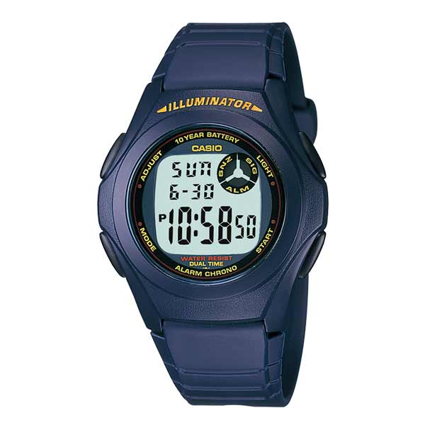 Casio F-200W-2ADF Dual Display Mens Resin
