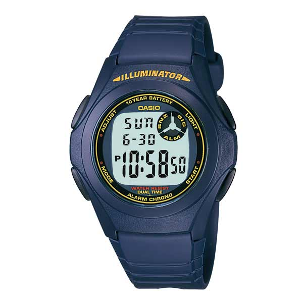 Casio F-200W-2BDF Dual Display Mens Resin