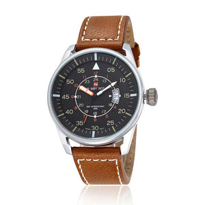 Naviforce 9044 Mens Leather Watch