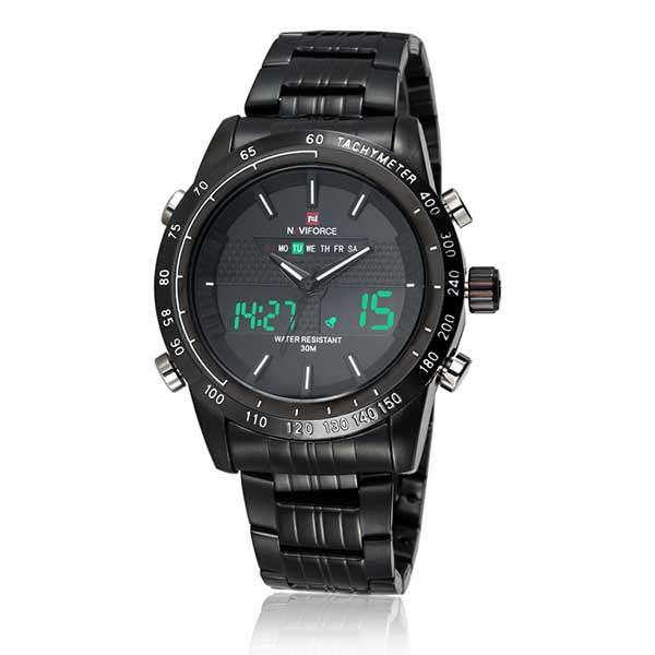 Naviforce 9024 Mens Stainless Steel Watch