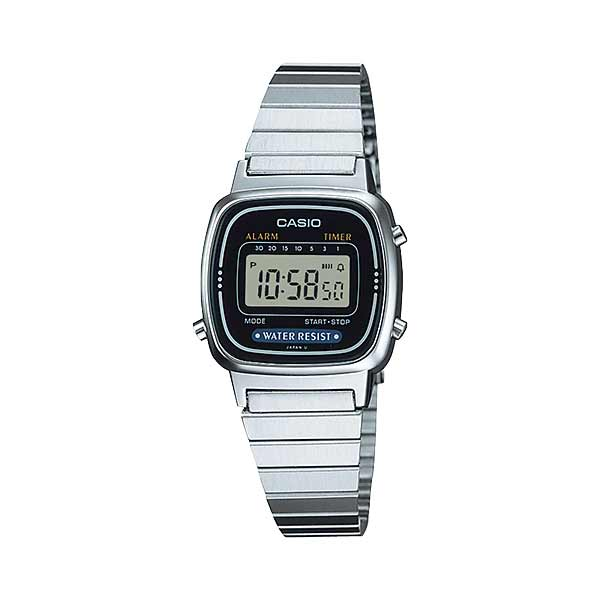 Casio LA670WA-1DF Digital Womens Silver