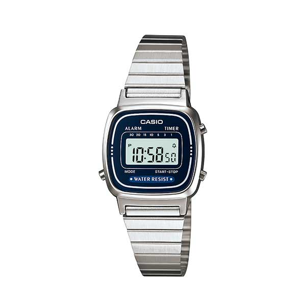 Casio LA670WA-2DF Digital Womens Silver
