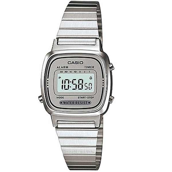 Casio LA670WA-7DF Digital Womens Silver