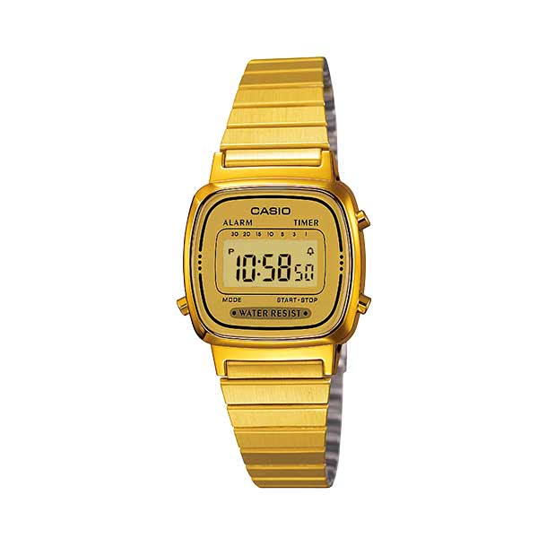 Casio LA670WGA-9DF Digital Womens Gold
