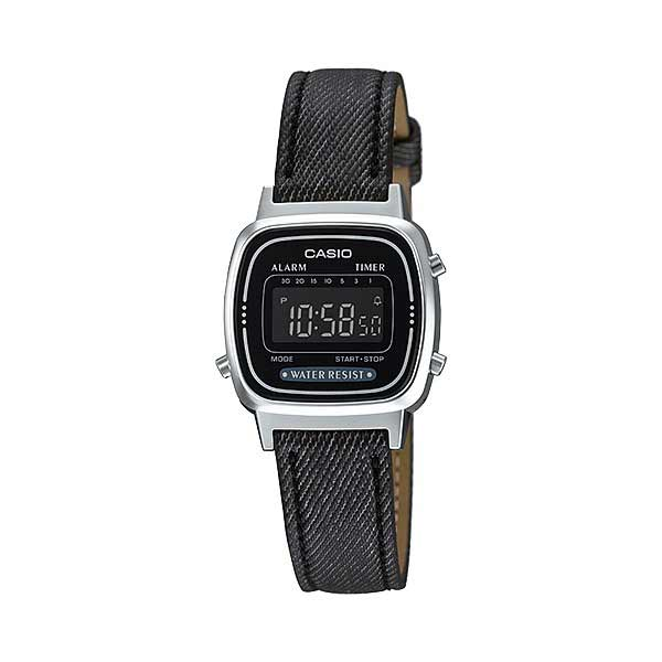 Casio LA670WL-1BDF Digital Womens Leather Denim