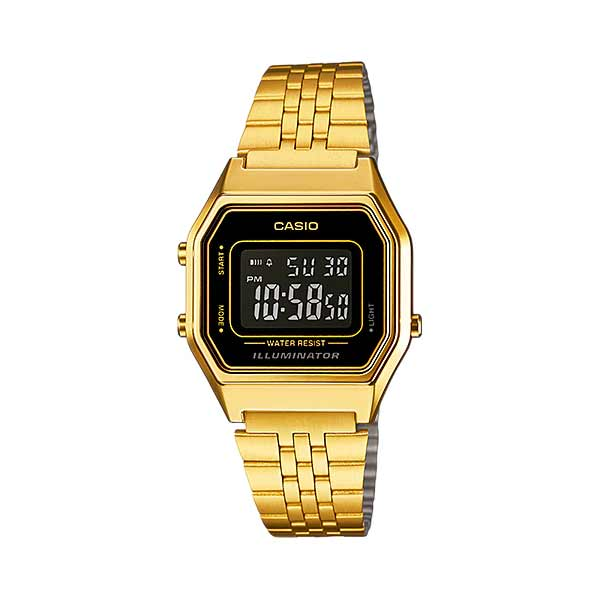 Casio LA680WGA-1BDF Digital Womens Gold