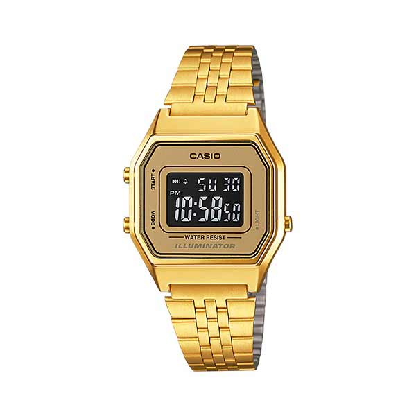 Casio LA680WGA-9BDF Digital Womens Gold