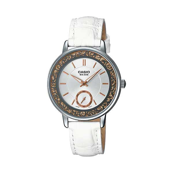 Casio LTP-E408L-7AVDF Quartz Womens Leather
