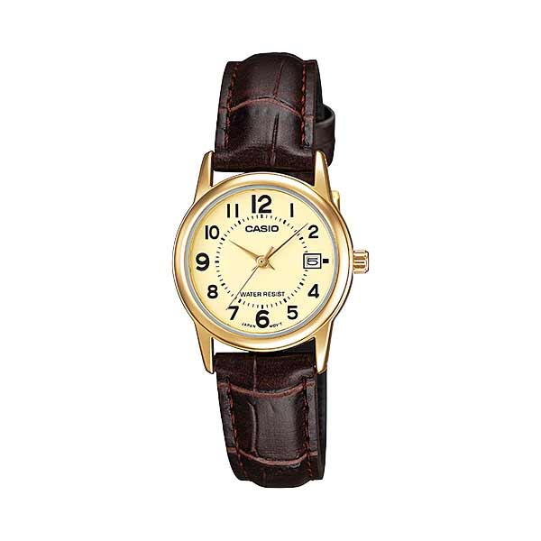 Casio LTP-V002GL-9BUDF Quartz Womens Leather
