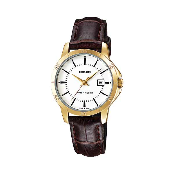 Casio LTP-V004GL-7AUDF Quartz Womens Leather