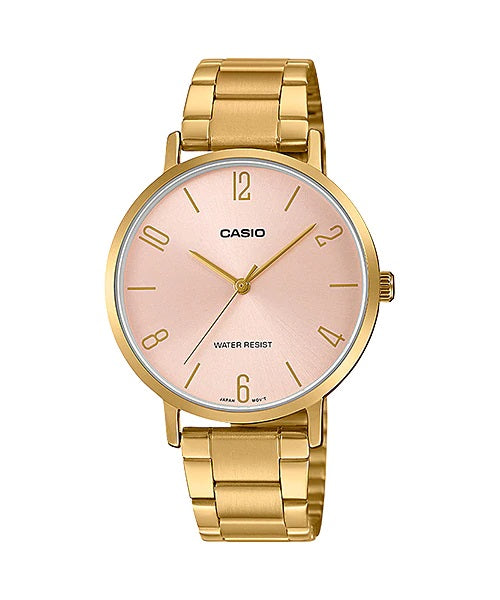 Casio LTP-VT01G-4BUDF Quartz Womens Gold Water Resist