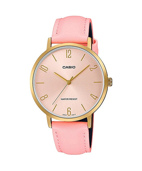Casio LTP-VT01GL-4BUDF Quartz Womens Leather Water Resist