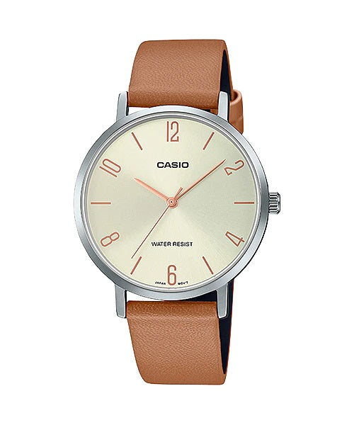 Casio LTP-VT01L-5BUDF Quartz Womens Leather Water Resist