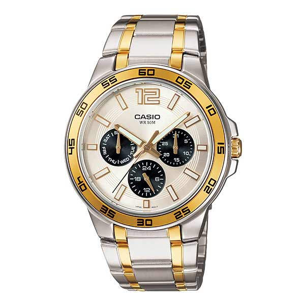 Casio MTP-1300SG-7AVDF Quartz Mens Silver/Gold