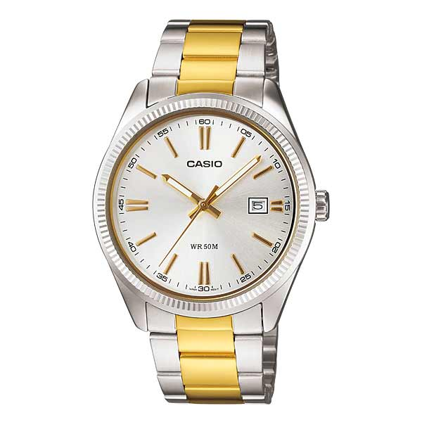 Casio MTP-1302SG-7AVDF Quartz Mens Silver/Gold