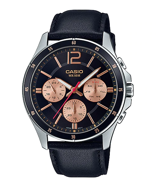 Casio MTP-1374L-1A2VDF Quartz Mens Leather