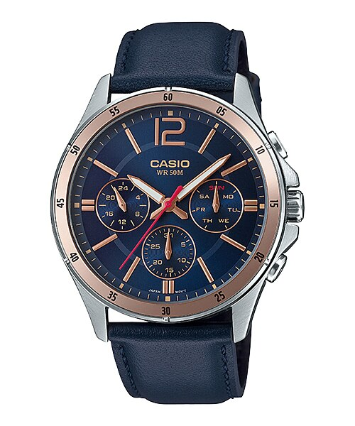Casio MTP-1374L-2AVDF Quartz Mens Leather