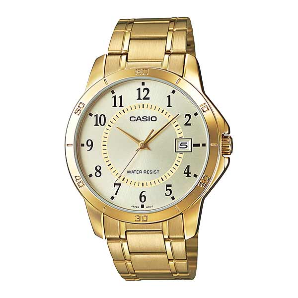 Casio MTP-V004G-9BUDF Quartz Mens Gold