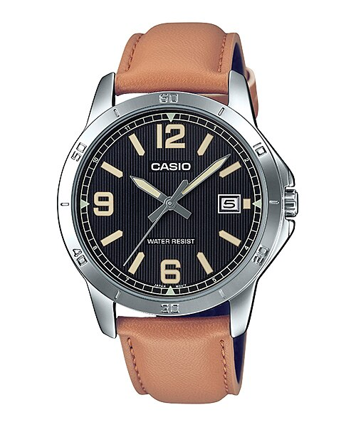 Casio MTP-V004L-1B2UDF Quartz Mens Leather