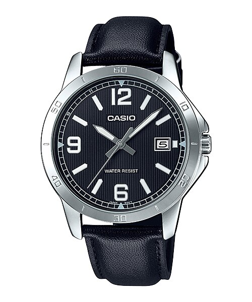 Casio MTP-V004L-1BUDF Quartz Mens Leather