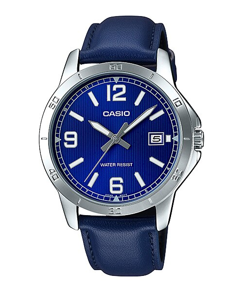 Casio MTP-V004L-2BUDF Quartz Mens Leather