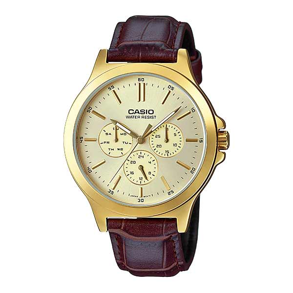 Casio MTP-V300GL-9AUDF Quartz Mens Leather