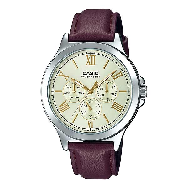 Casio MTP-V300L-9AUDF Quartz Mens Leather