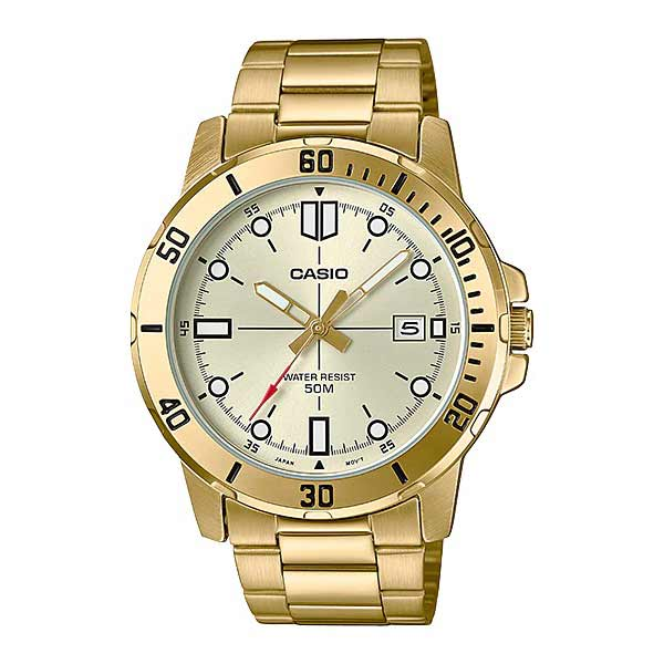 Casio MTP-VD01G-9EVUDF Quartz Mens Gold