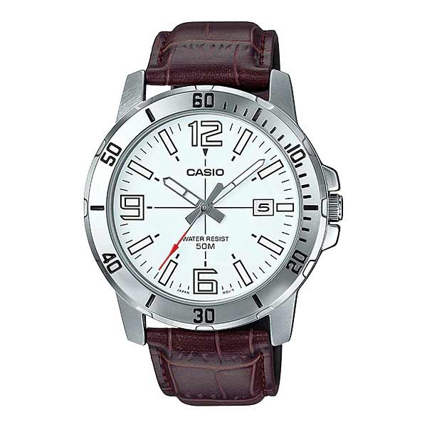 Casio MTP-VD01L-7BVUDF Quartz Mens Leather