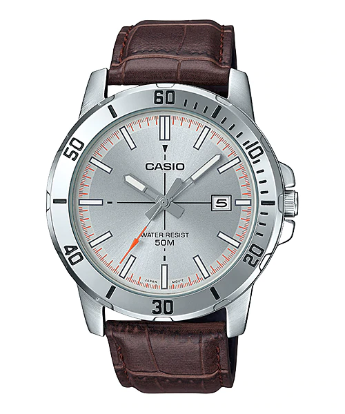 Casio MTP-VD01L-8EVUDF Quartz Mens Leather