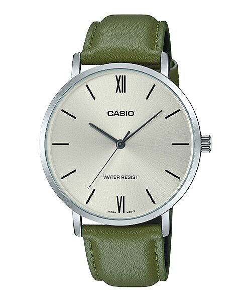 Casio MTP-VT01L-3BUDF Quartz Mens Leather